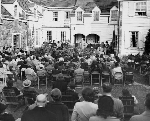 Dedication in 1948