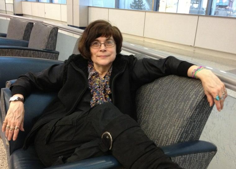 Diana Hume George at JFK International Airport by John Edwards