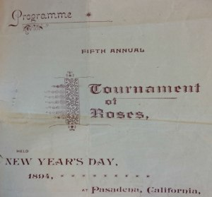 Mary kept this program from the Fifth Tournament of Roses in her diary.