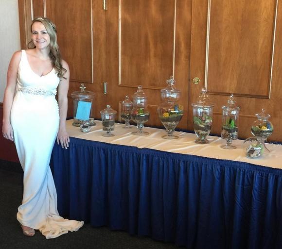 ashley at wedding