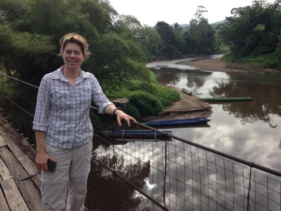 Liz at Pa Sia river