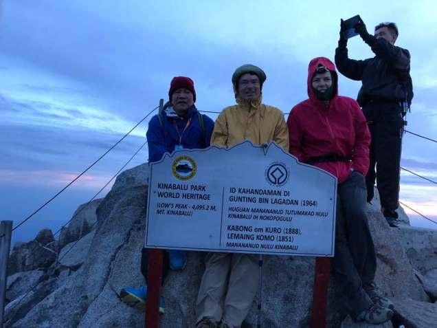 Mt Kinabalu peak