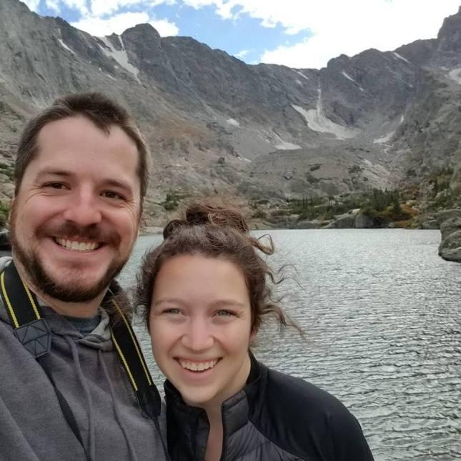 Machusko and wife rebecca at skypond