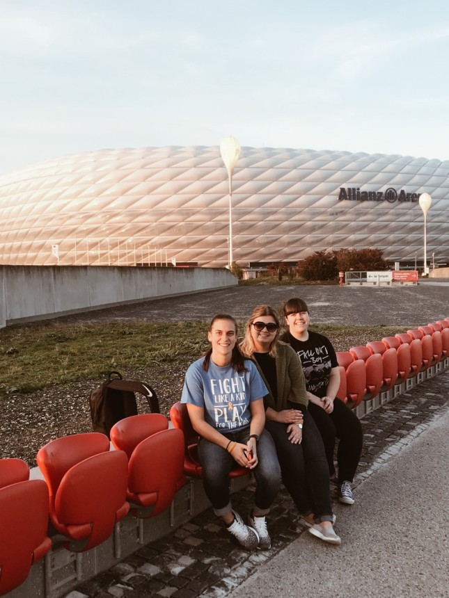 Students at Allianz Arena