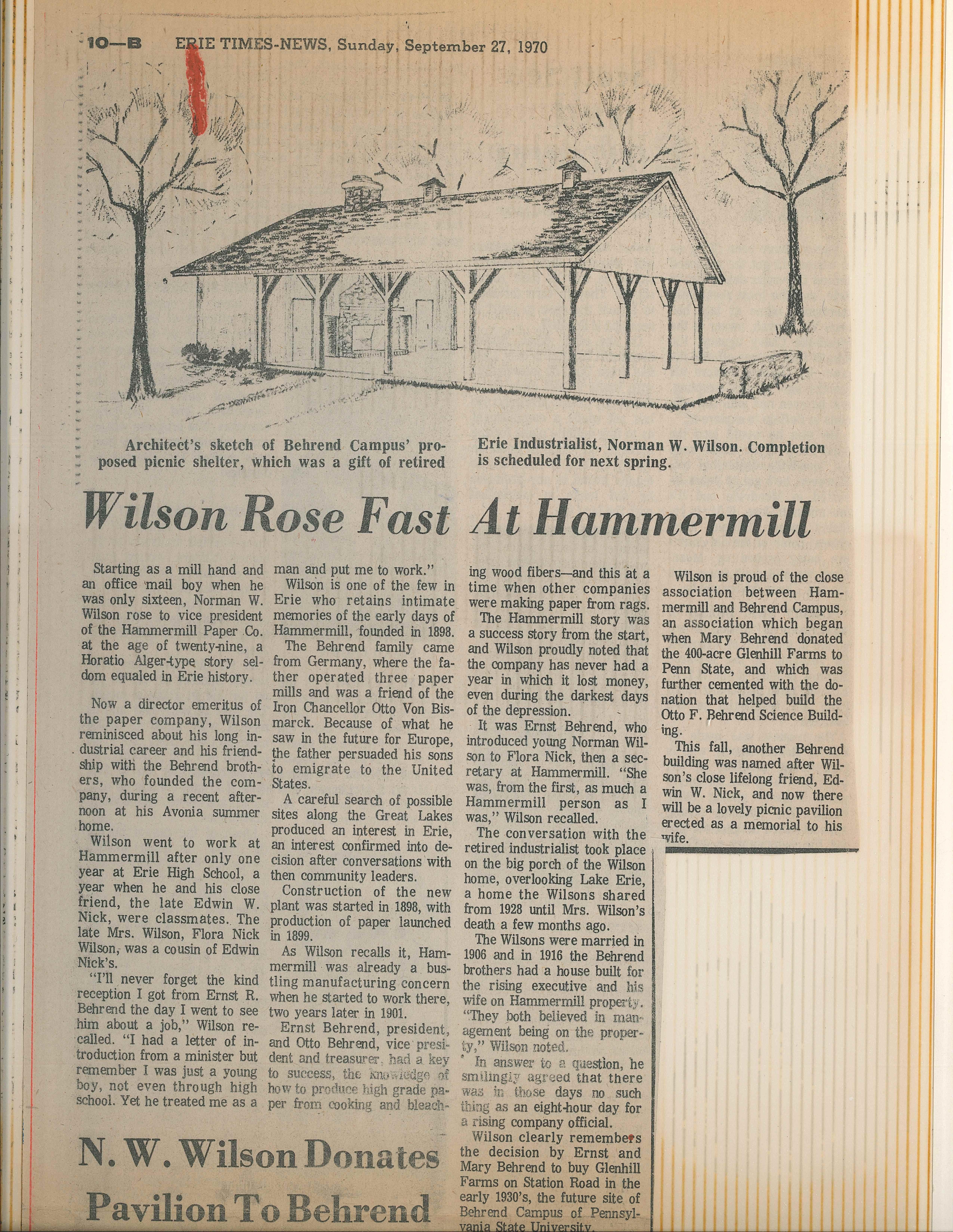 Wilson News story
